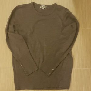 Dark grey crew neck sweater